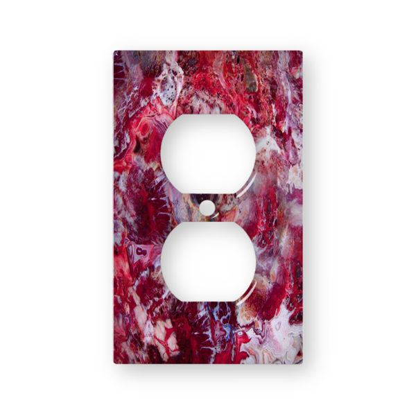 Agate Crazy LACe Red - AC Outlet Wall Plate Cover