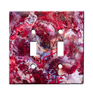 Agate Crazy Lace Red - Dual Gang Switch Plate