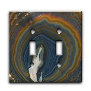 Agate Earthy Hues - Dual Gang Switch Plate