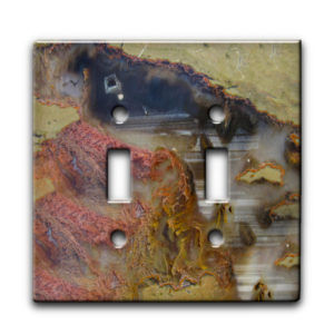 Agate Linear Landscape - Dual Gang Switch Plate