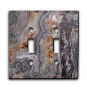 Agate Smokey Scape - Dual Gang Switch Plate