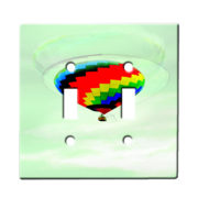 Balloon Rainbow - Dual Gang Switch Plate