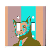 Business Cat - Dual Gang Switch Plate