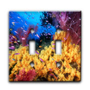 Coral and Anthias Fish_1 - Dual Gang Switch Plate