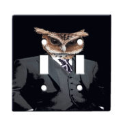 Dapper Owl Suit - Dual Gang Switch Plate
