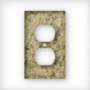 Granite Giallo Ornamental - AC Outlet Wall Plate Cover