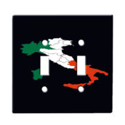 Italy Italian Flag - Dual Gang Switch Plate