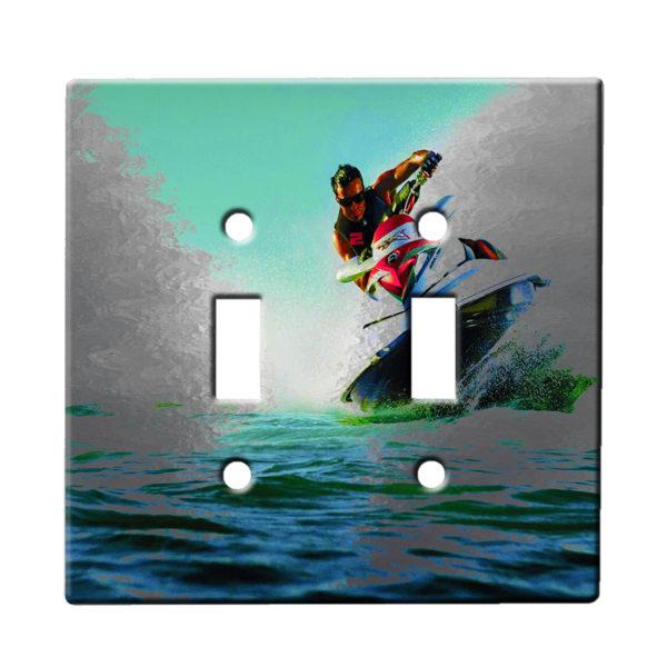 Jetskiing - Dual Gang Switch Plate