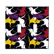 Kitty Cat Purr Eyes - Dual Gang Switch Plate