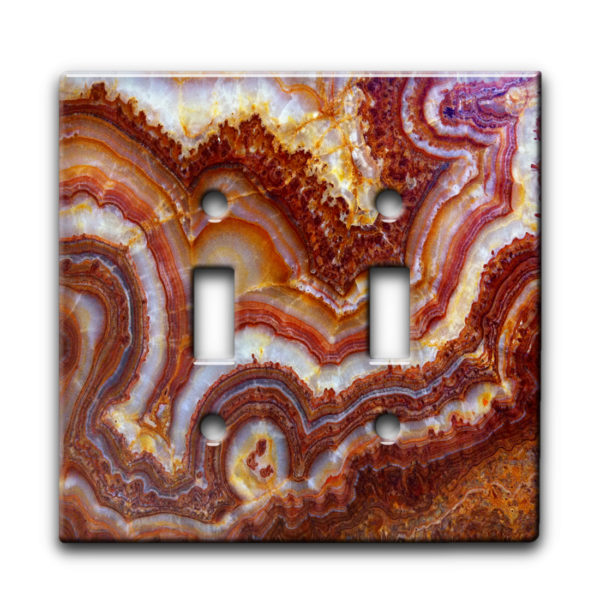 Marble Pattern - Dual Gang Switch Plate