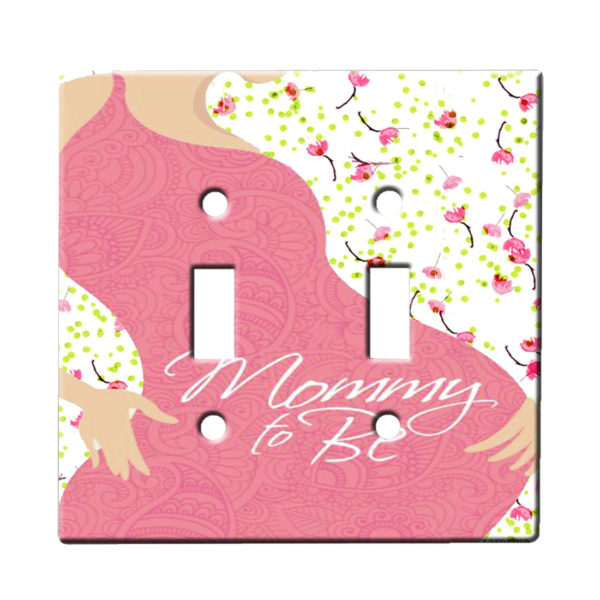 Mommy To Be Silhouette - Dual Gang Switch Plate