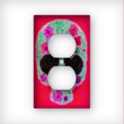 Sugar Skull Painting - AC Outlet Wall Plate Cover