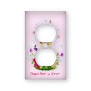 Wedding Rings Together 4 Ever - AC Outlet Wall Plate Cover