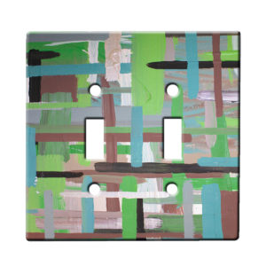 Xylaart Earthy Stripe Weave - Dual Gang Switch Plate