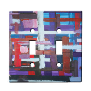 Xylaart Jewel Stripe Weave - Dual Gang Switch Plate