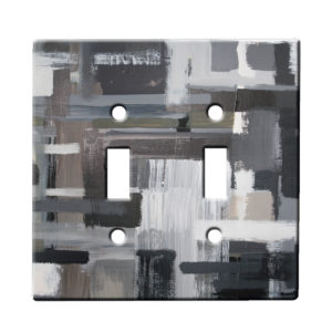 Xylaart Monocrome Stripe Weave - Dual Gang Switch Plate