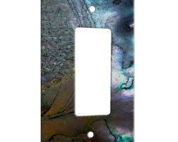 Abalone Metallic Shell - 1 Gang Decora Rocker Wall Plate Cover