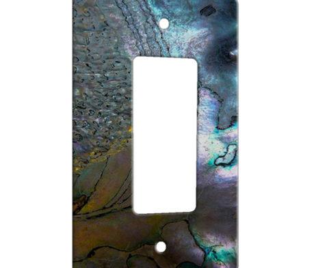 Abalone Metallic Shell - 1 Gang Decora Rocker Wall Plate Cover