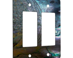 Abalone Metallic Shell - 2 Gang Decora Rocker Wall Plate Cover