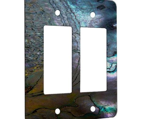 Abalone Metallic Shell - 2 Gang Decora Rocker Wall Plate Cover