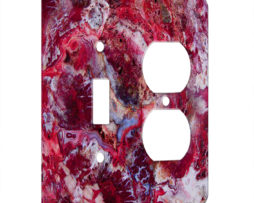 Agate Crazy Lace Red - AC Outlet Combo Switch Plate 2 Gang Cover