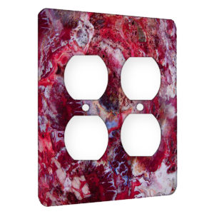 Agate Crazy Lace Red - AC Outlet 2 Gang Wall Plate Cover