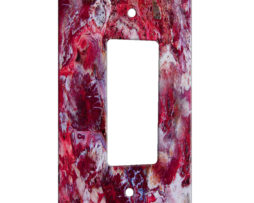 Agate Crazy Lace Red - 1 Gang Decora Rocker Wall Plate Cover