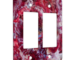 Agate Crazy Lace Red - 2 Gang Decora Rocker Wall Plate Cover