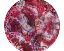 Agate Crazy Lace Red - Round Glass Cutting Board