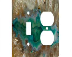 Agate Crystal Turquoise - AC Outlet Combo Switch Plate 2 Gang Cover