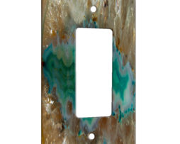 Agate Crystal Turquoise - 1 Gang Decora Rocker Wall Plate Cover