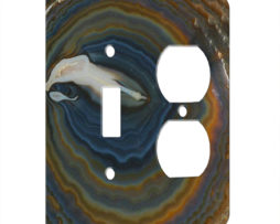 Agate Earthy Hues - AC Outlet Combo Switch Plate 2 Gang Cover