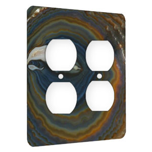 Agate Earthy Hues - AC Outlet 2 Gang Wall Plate Cover