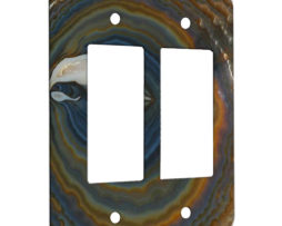 Agate Earthy Hues - 2 Gang Decora Rocker Wall Plate Cover