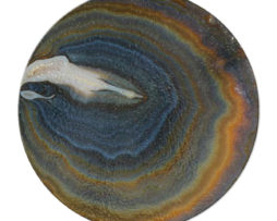 Agate Earthy Hues - Round Glass Cutting Board