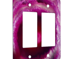 Agate Fuschia - 2 Gang Decora Rocker Wall Plate Cover