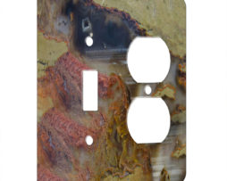 Agate Linear Landscape - AC Outlet Combo Switch Plate 2 Gang Cover