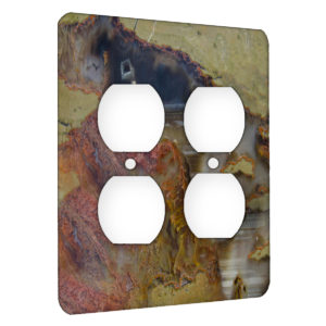 Agate Linear Landscape - AC Outlet 2 Gang Wall Plate Cover