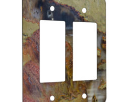Agate Linear Landscape - 2 Gang Decora Rocker Wall Plate Cover