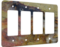 Agate Linear Landscape - 4 Gang Decora Rocker Wall Plate Cover