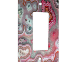 Agate Rose Quarts - 1 Gang Decora Rocker Wall Plate Cover
