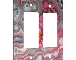 Agate Rose Quarts - 2 Gang Decora Rocker Wall Plate Cover