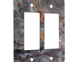 Agate Smokey Scape - 2 Gang Decora Rocker Wall Plate Cover