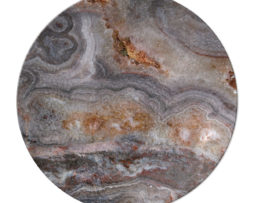 Agate Smokey Scape - Round Glass Cutting Board