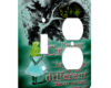 Alice in Wonderland Chesire Cat - AC Outlet Combo Switch Plate 2 Gang Cover