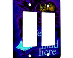 Alice in Wonderland Chesire Here - 2 Gang Decora Rocker Wall Plate Cover