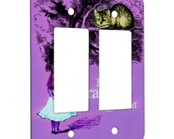Alice in Wonderland Im Not Crazy - 2 Gang Decora Rocker Wall Plate Cover