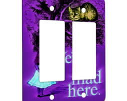 Alice in Wonderland Mad Chesire Quote - 2 Gang Decora Rocker Wall Plate Cover