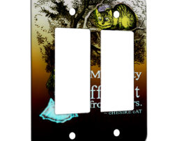 Alice in Wonderland My Reality - 2 Gang Decora Rocker Wall Plate Cover