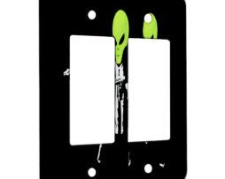 Alien Pulp Fiction - 2 Gang Decora Rocker Wall Plate Cover